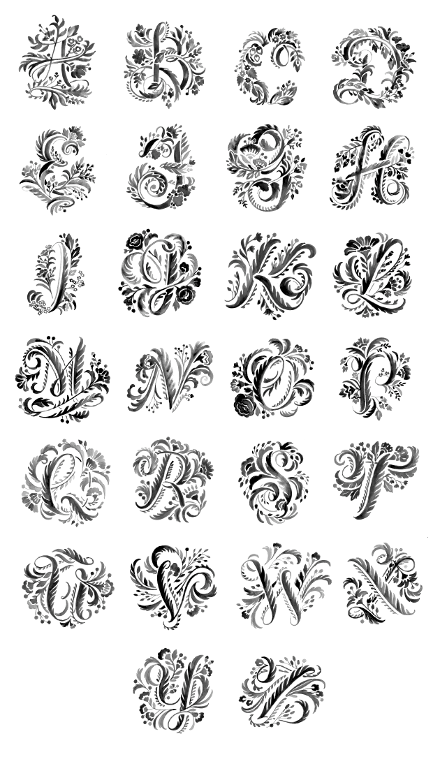 She Created The All Caps Floral Alphabet