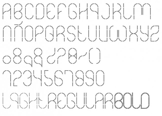 dotted line font for tracing