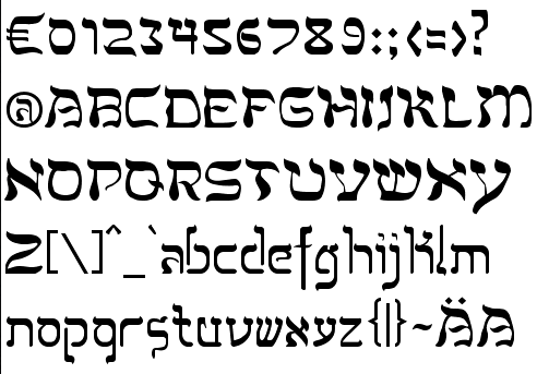 Alphabetum Is Not Marcoss Only Excursion Into Type Design In 2011 He Created Two Simulation Fonts Called