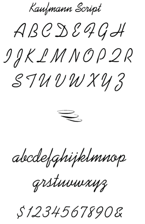 McGrew Kaufmann Script And Bold Are A Pair Of Monotone Connecting Scripts Designed By Max