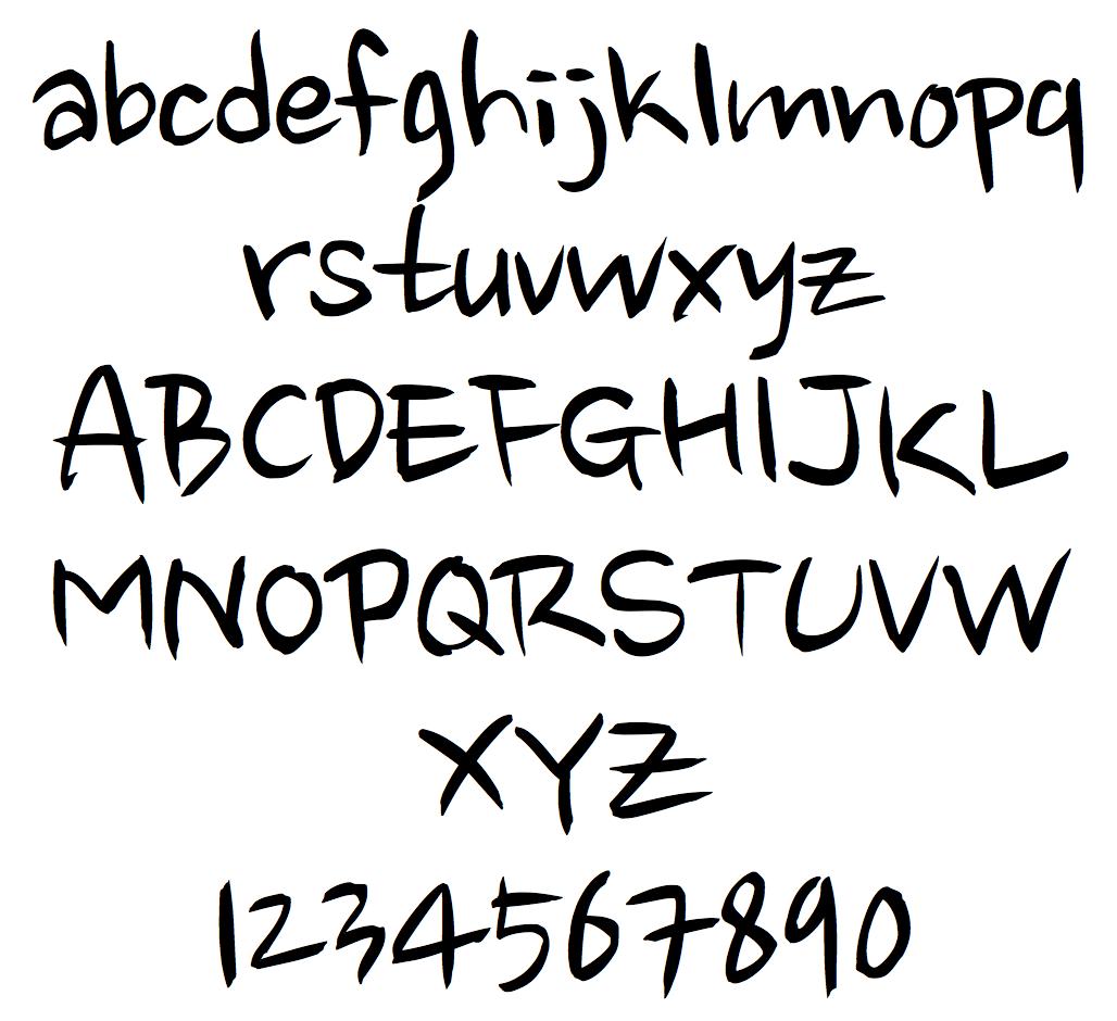 Zen Brush Font Typophile