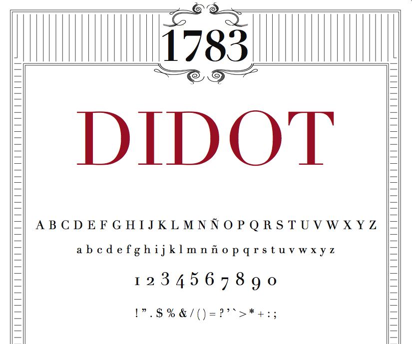 Didot Or Bodoni