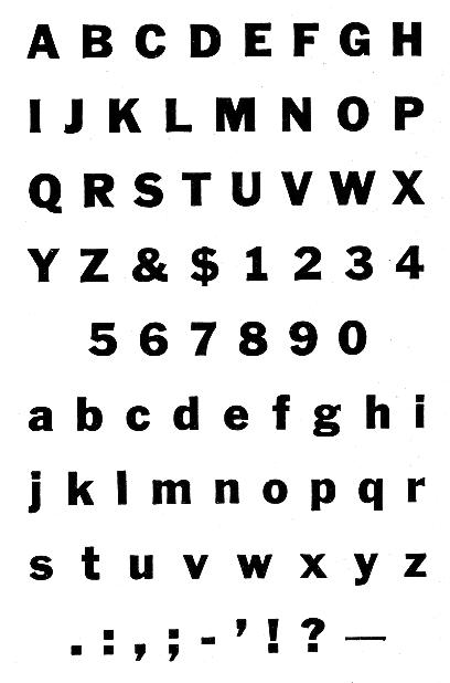 Ludlow Typefaces