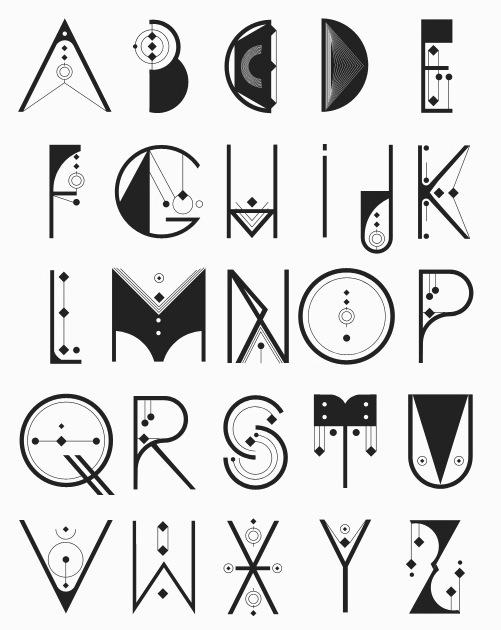Fonts typeography on pinterest alphabet font alphabet - Alquimia deco ...