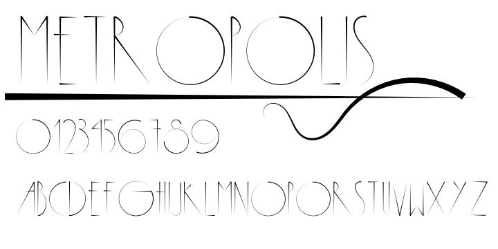 Image result for metropolis font
