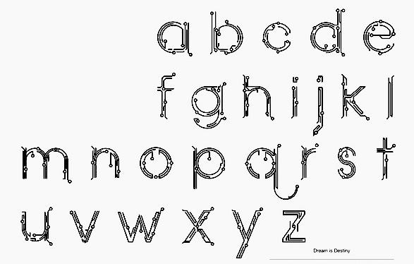 university fonts