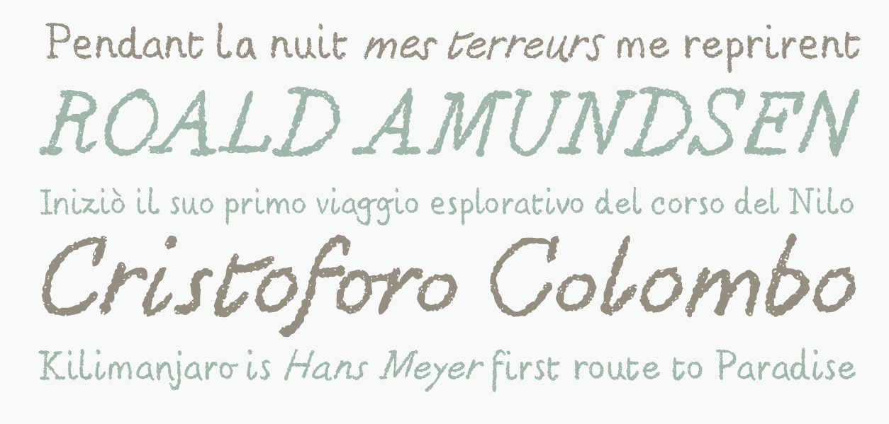 Typefaces that emulate chalk writing