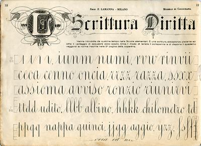 Italian penmanship and calligraphic teaching books - Modello di scrittura vichingo ...