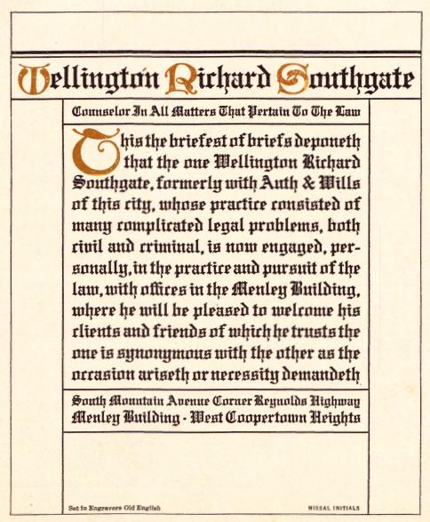 Engravers Old English