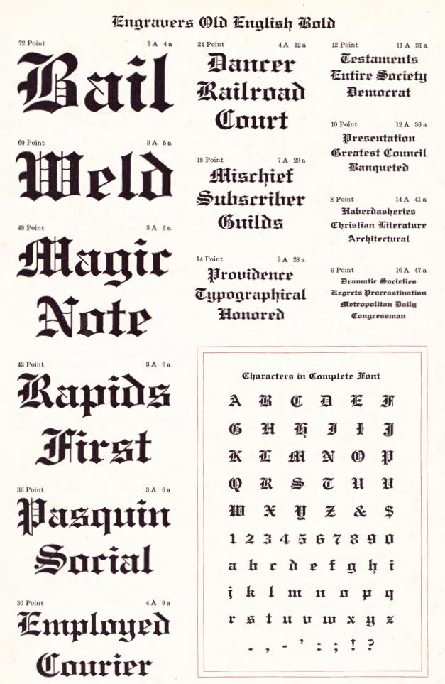 File Name Morris Fuller Benton Cowan Engravers Old English 1901c