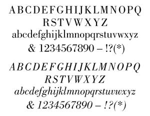 ATF 1923 Catalog: Bodoni Series