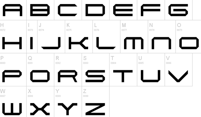 Wipeout Logo Font A futuristic font based in