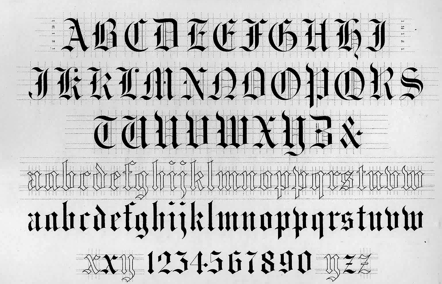 Calligraphy Font Old English Alphabet Tattoo