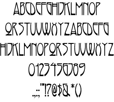 Art Nouveau Typefaces By Nick Curtis