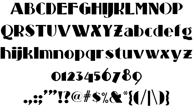 silent movie fonts