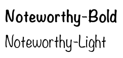 Noteworthy Font