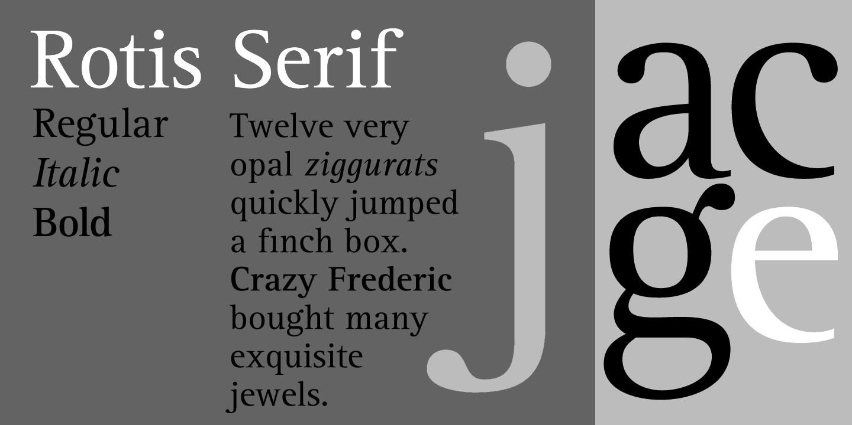Rotis Sans Serif Std Font Sizes