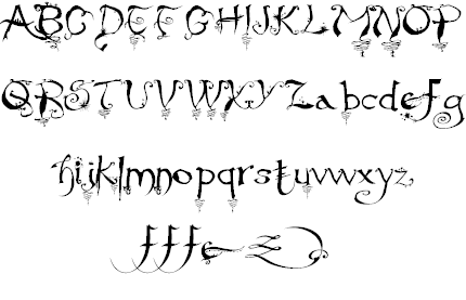 paolo vannucci alphabettype b 1969 punta marina terme created the curly handwritten halloween typefaces - Halloween Writing Font