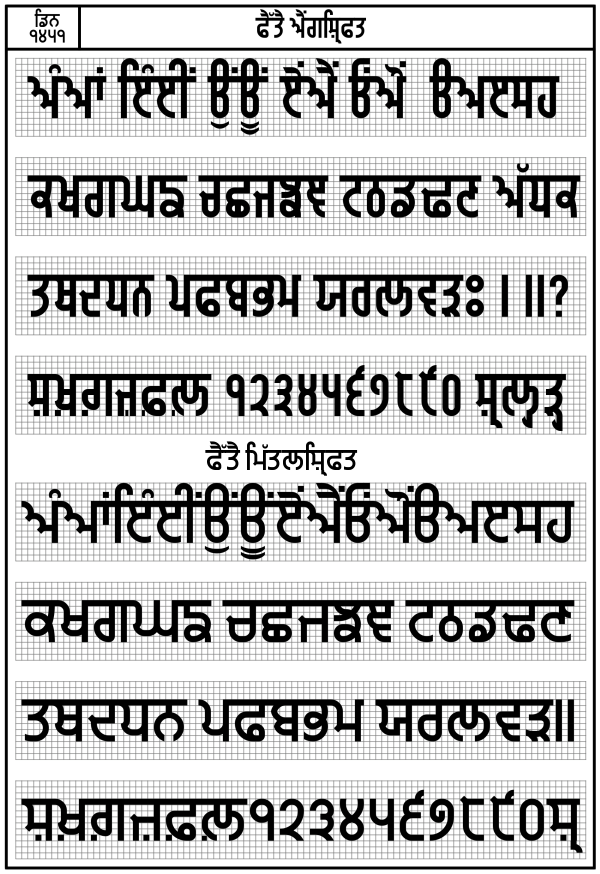 Gurbani lipi punjabi font files from the world Punjabi calligraphy font