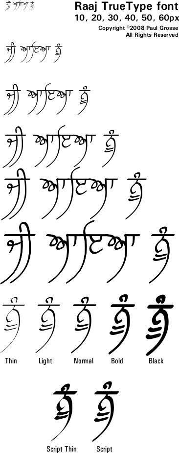 Punjabi gurmukhi fonts Punjabi calligraphy font