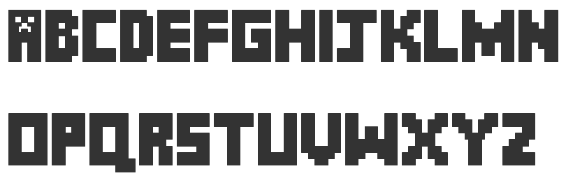Image Gallery Minecraft Font
