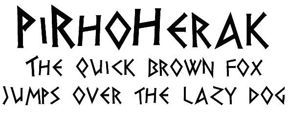 greek writing font