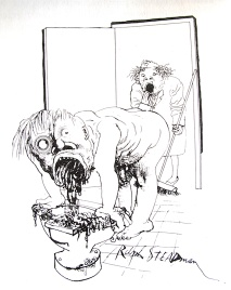 Illustration of Hunter S. Thompson's 1971 classic, Fear and Loathing in Las Vegas, by Ralph Steadman