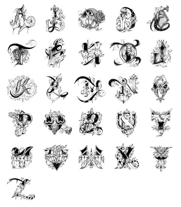 Alphabet Letter Designs Art: Raul Alejandro
