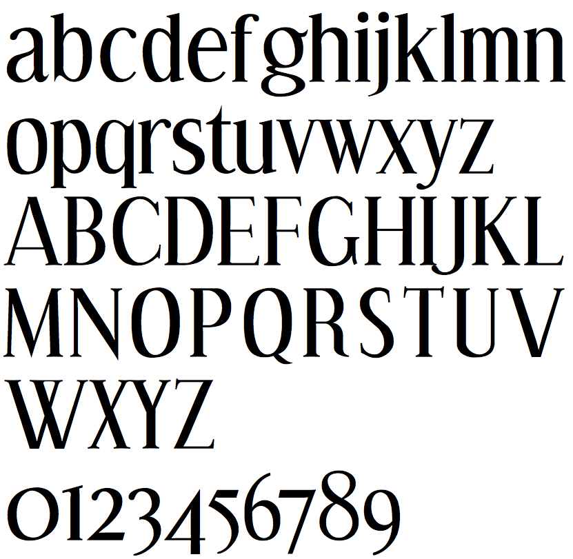 Roman Font Alphabet font hosting at on snot and fonts