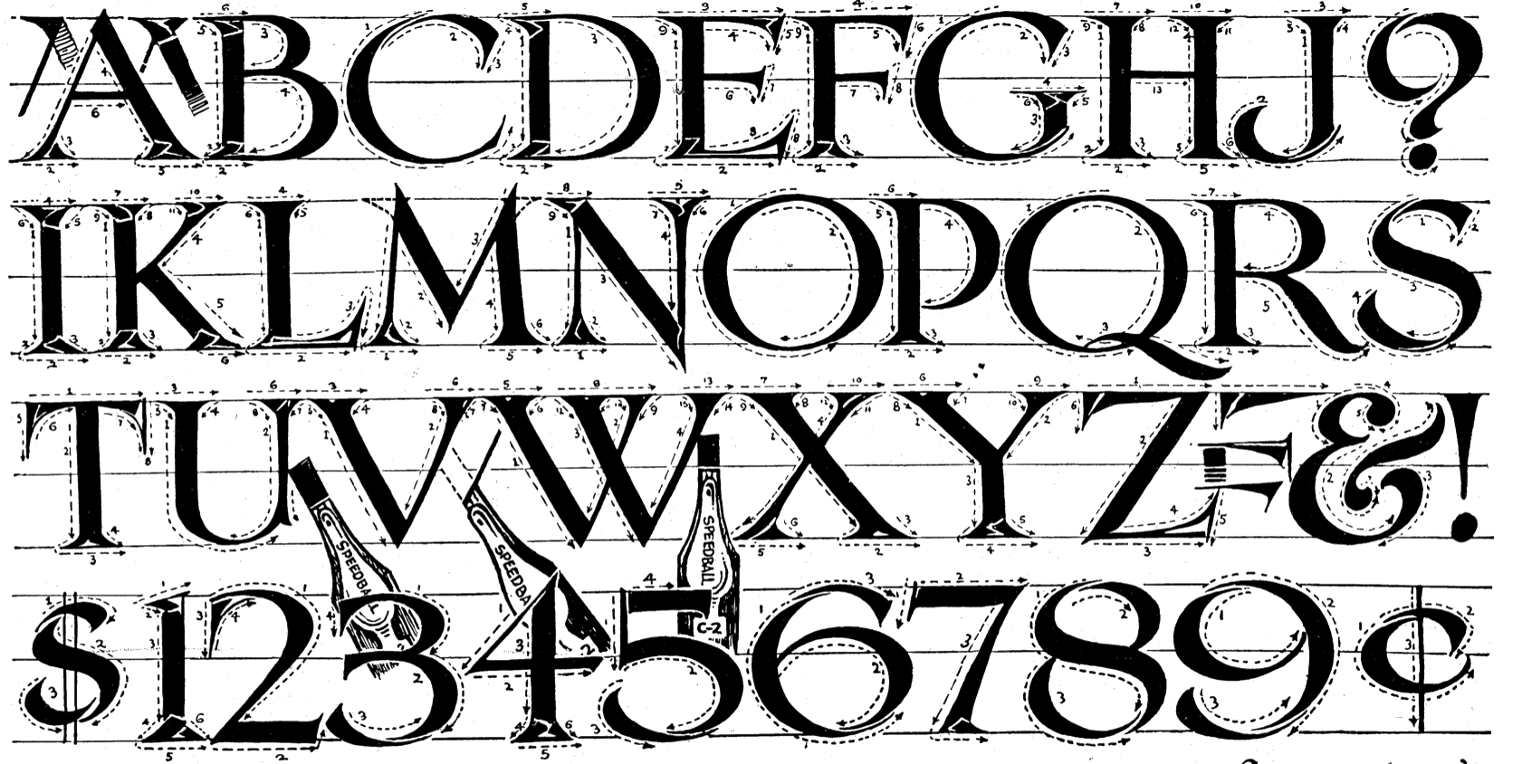 file name: Ross F George Speedball Book Modern Roman Lettering 1927