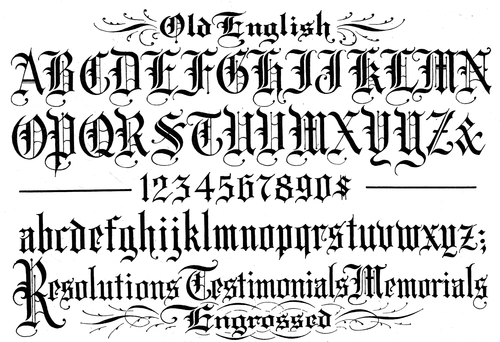 Old English Fonts 35