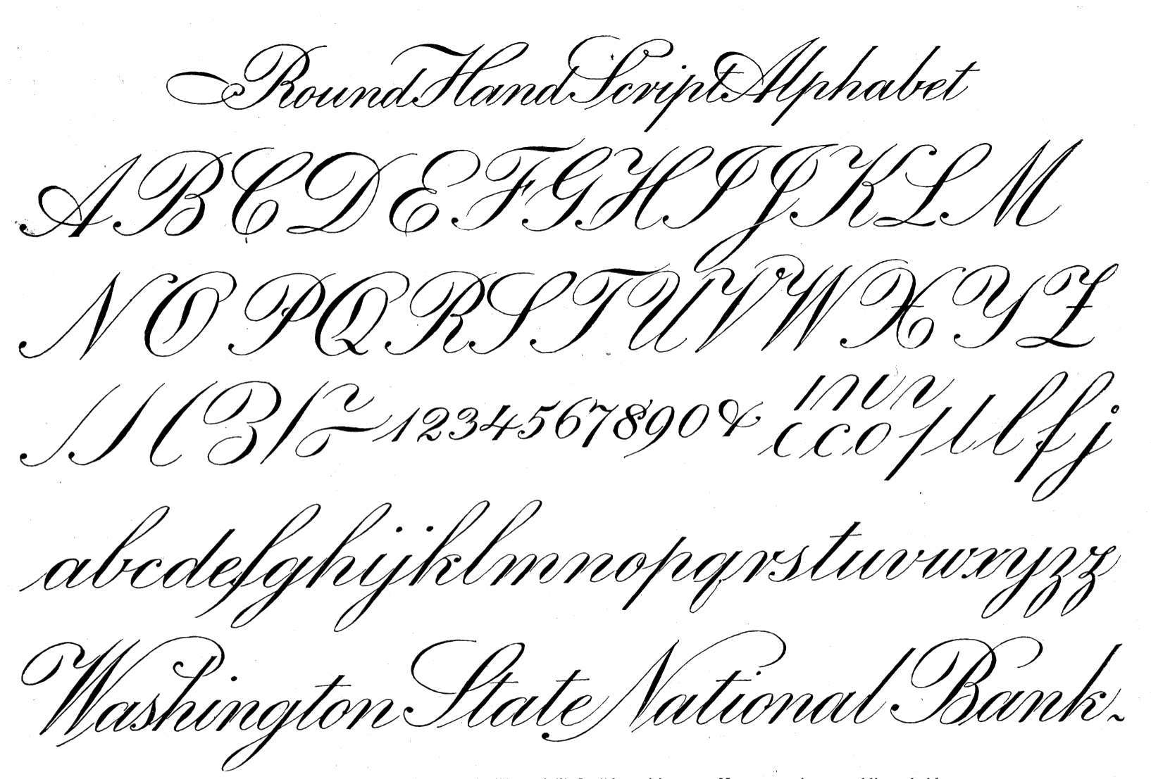 Ross f george speedball 10 1927 Roundhand calligraphy