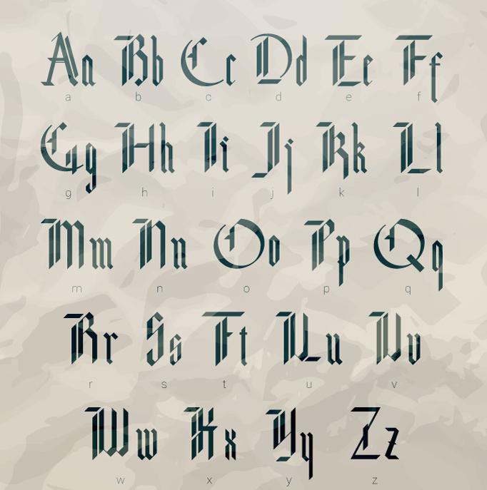 File Name Sergey Mironov Modern Gothic Blackletter 2015