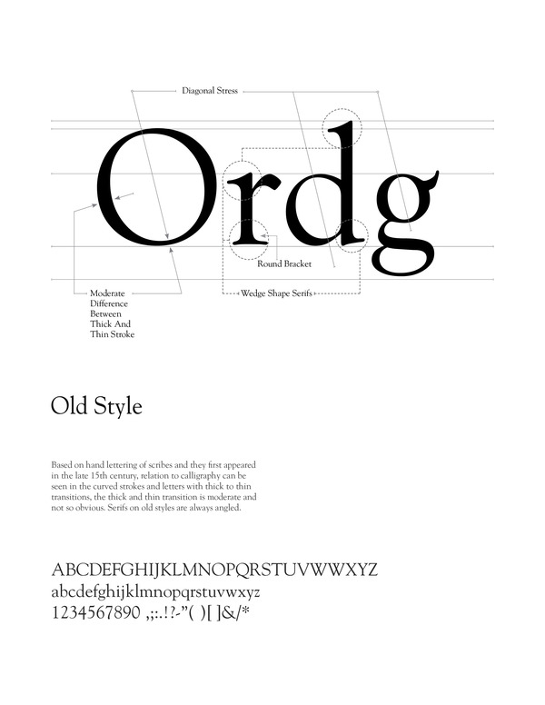 Old Style Typefaces Sans Serif