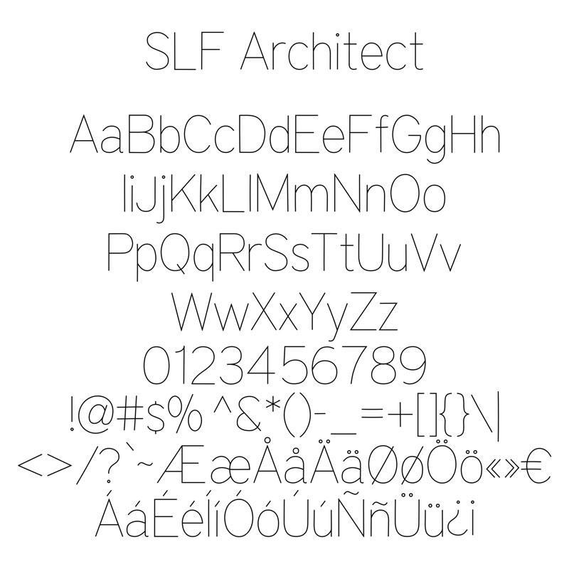 Line free fonts single Fonts