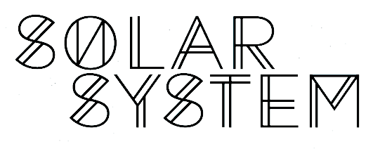 the solar system words cute font - photo #5