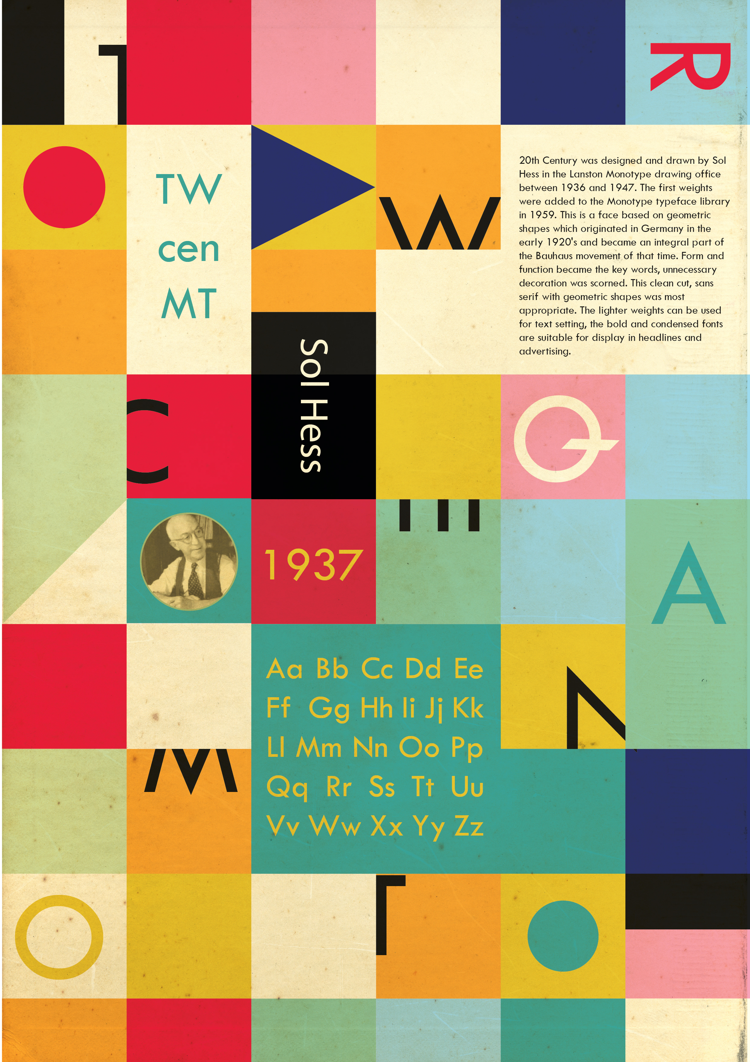 Download Free Font Twentieth Century Poster1