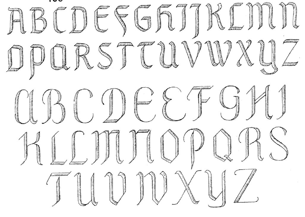 Tattoo Fonts Alphabet