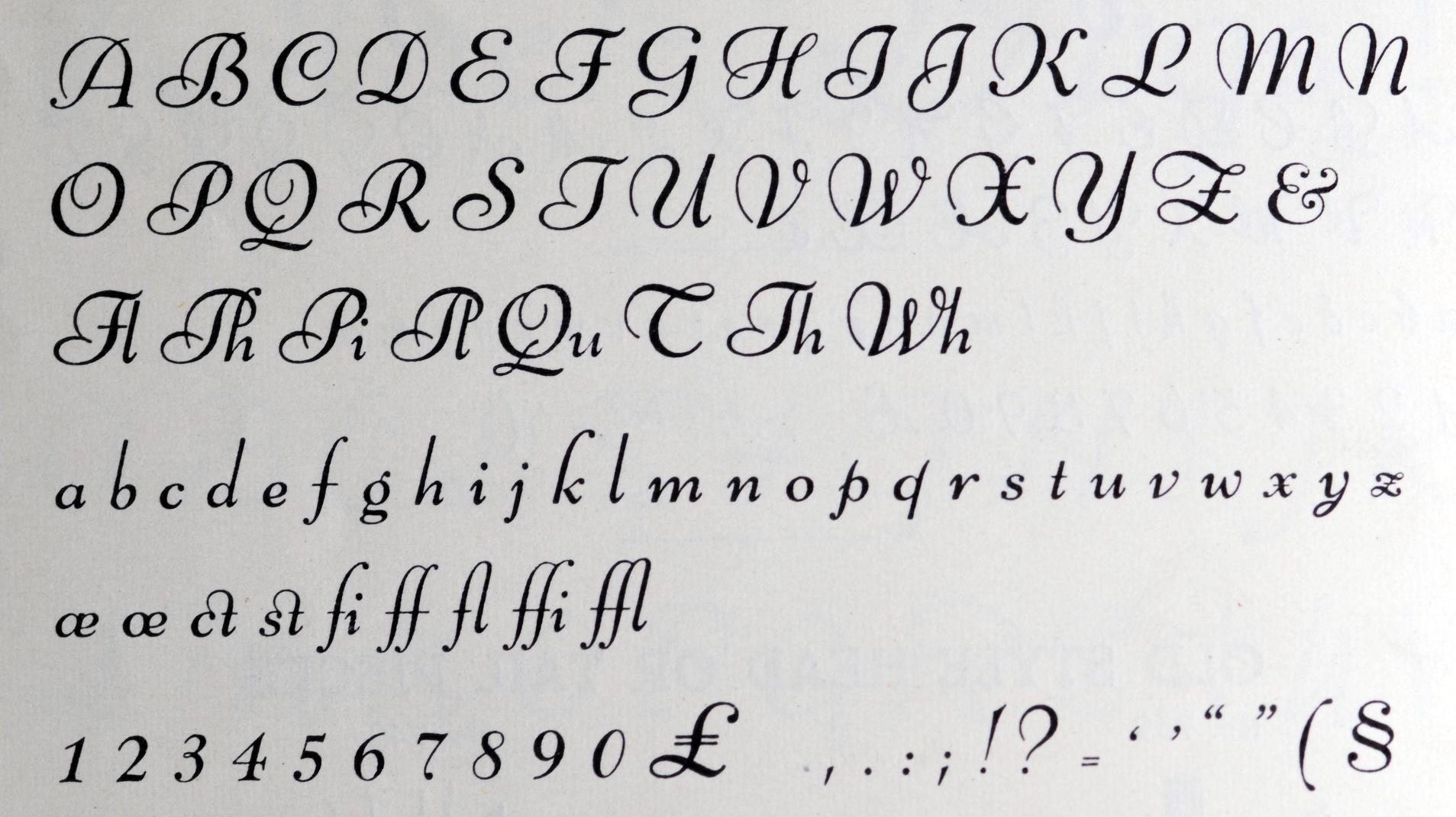 cursive writing font
