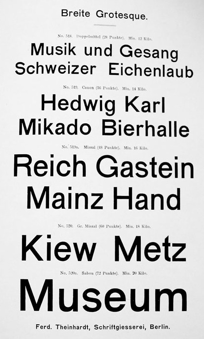 Ferdinand Theinhardt Schriftgiesserei Berlin