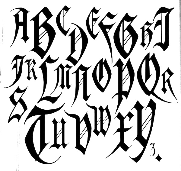 Gothic Old English Font Images
