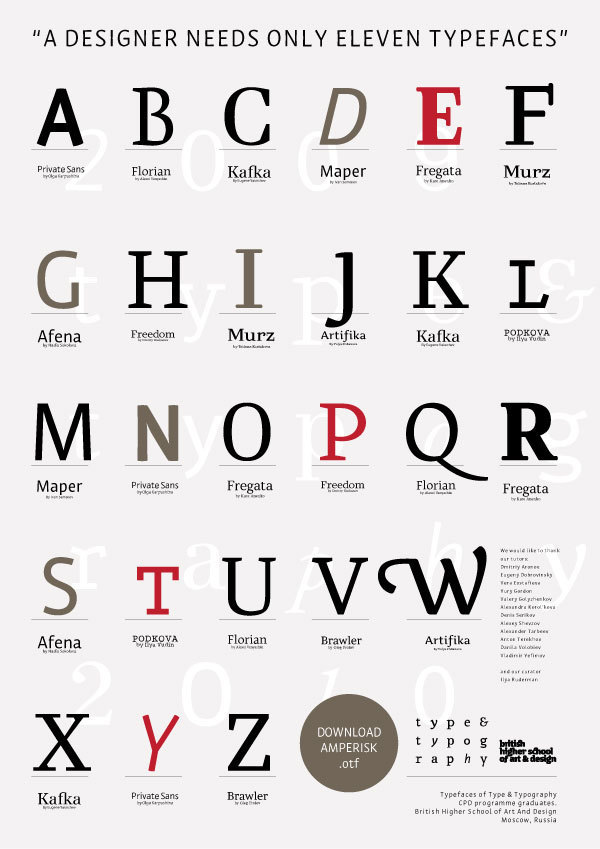Sehr Typography schools QE88