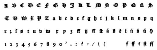 Textura Lettering