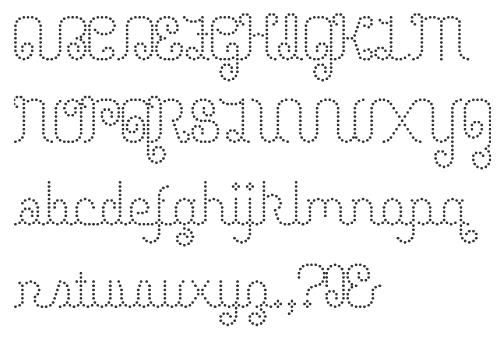 Wisp 2011 Amusement Menagerie Junk Iphont White On Black Dot Matrix Face Lyrical Script Petits Pois Elli