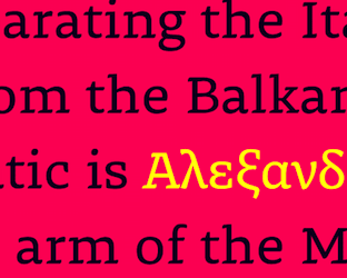 Greek and Coptic language fonts