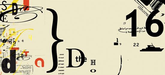 Dadaism typography