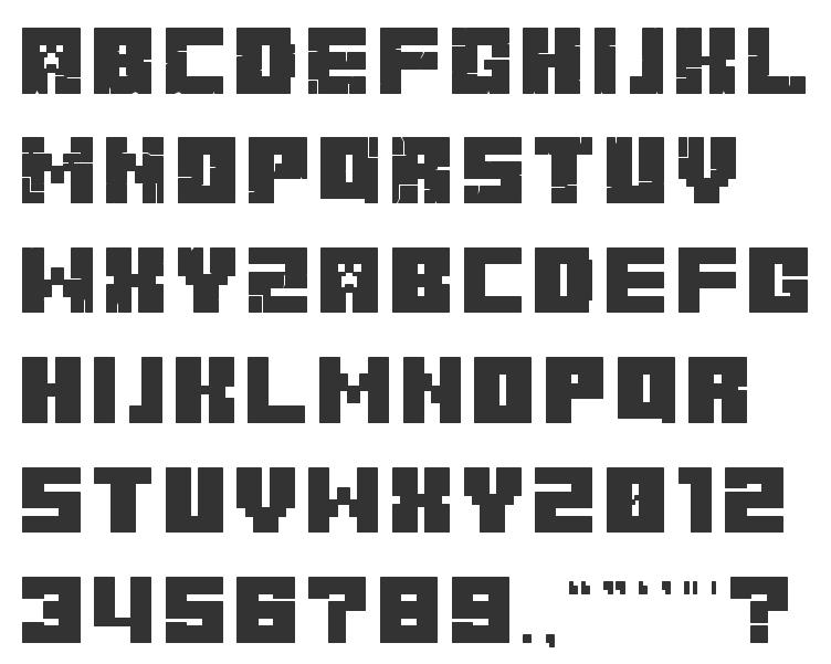 шрифт майнкрафт #7